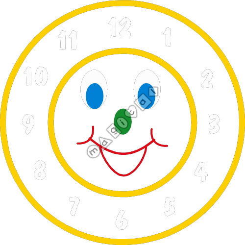 Design of playground marking/equipment - Smiley Clock Face | Nursery ...: magical-playground-markings.co.uk/item-design/smiley-clock-face...