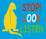 Stop Look Listen 'Dino' Mat playground marking/equipment photo - Nursery and Reception, Markings, Primary, Public Spaces