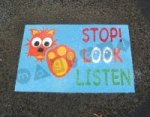 Stop Look Listen 'Cat' Mat playground marking/equipment photo - Nursery and Reception, Markings, Primary, Public Spaces