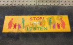 Stop Look Listen 'Family' Mat 2013 playground marking/equipment photo - Nursery and Reception, Markings, Primary, Public Spaces